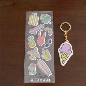 Stoney Clover Key Chain and Stickers